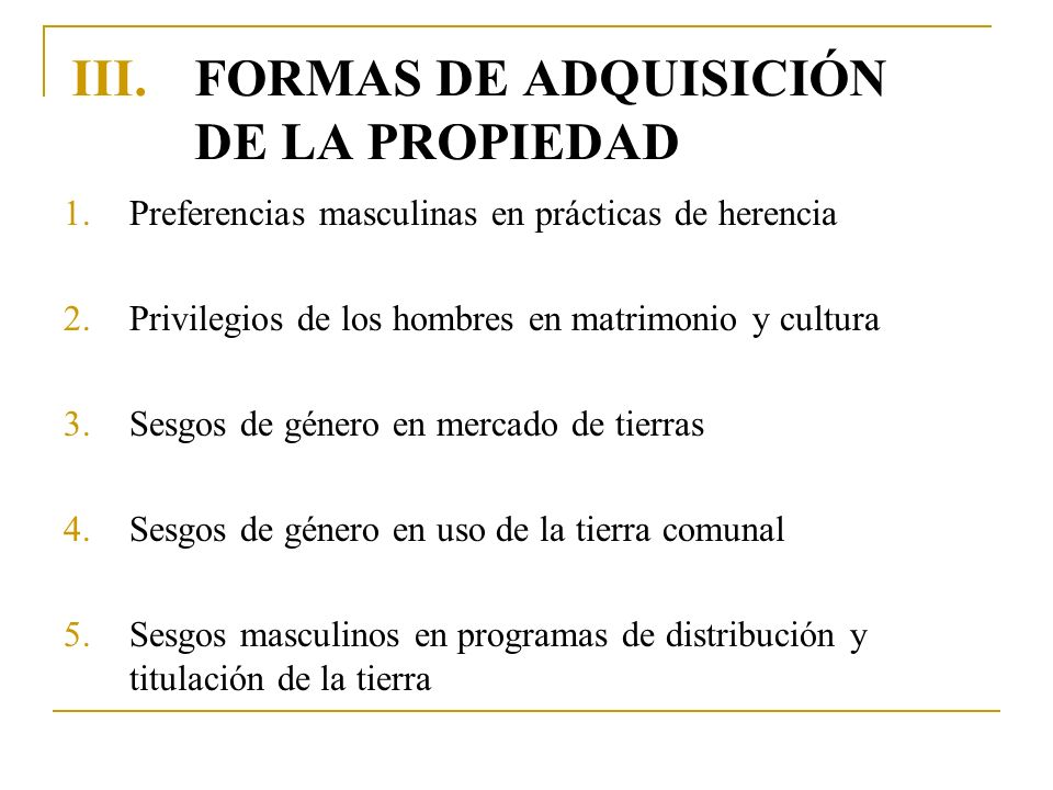 FORMAS DE ADQUISICIÓN DE LA PROPIEDAD