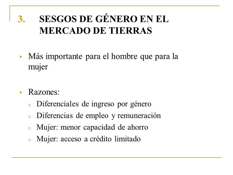 SESGOS DE GÉNERO EN EL MERCADO DE TIERRAS