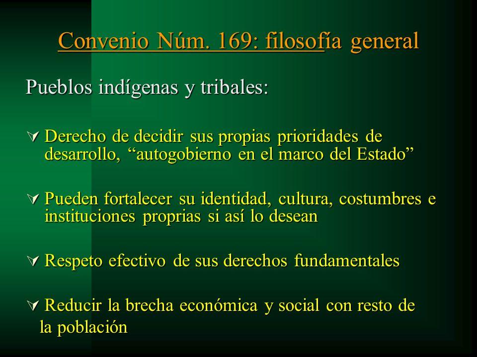 Convenio Núm. 169: filosofía general