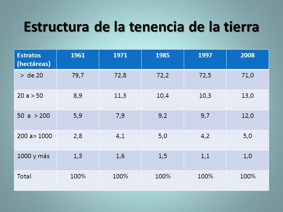 Estructura de la tenencia de la tierra