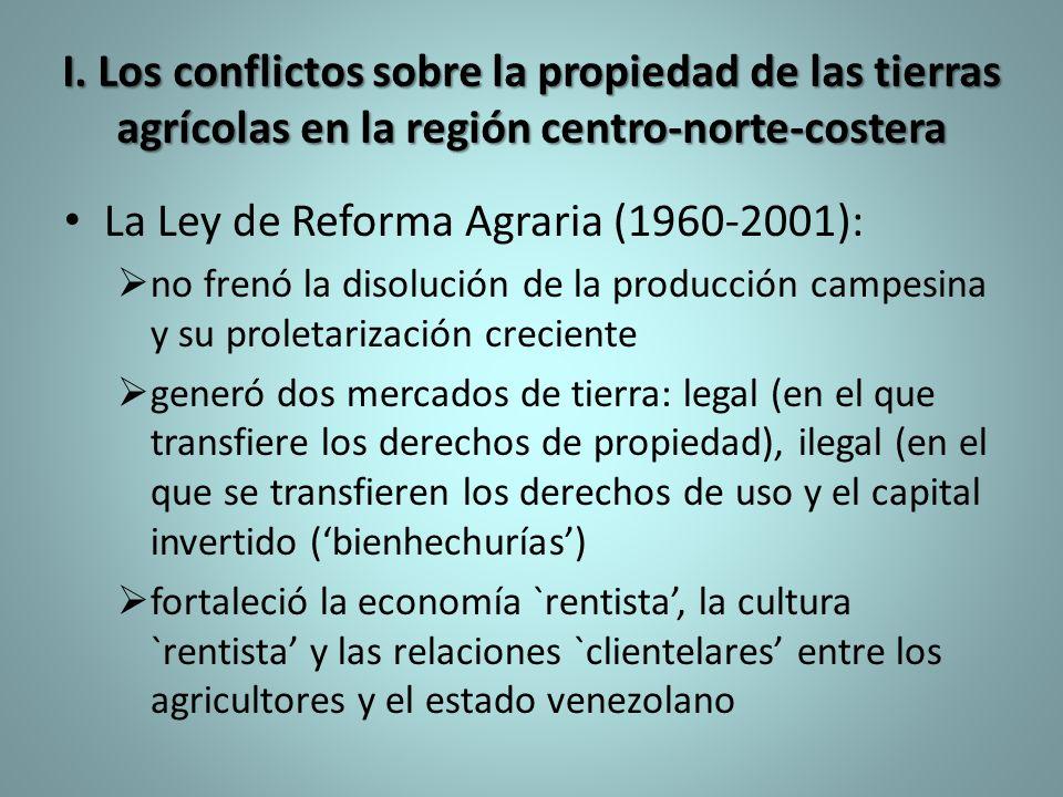 La Ley de Reforma Agraria (1960-2001):