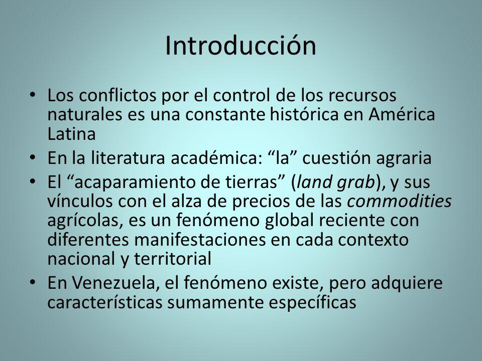 Introducción Los conflictos por el control de los recursos naturales es una constante histórica en América Latina.