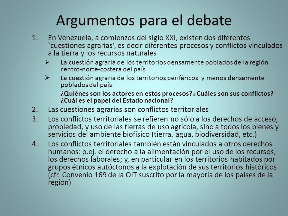 Argumentos para el debate
