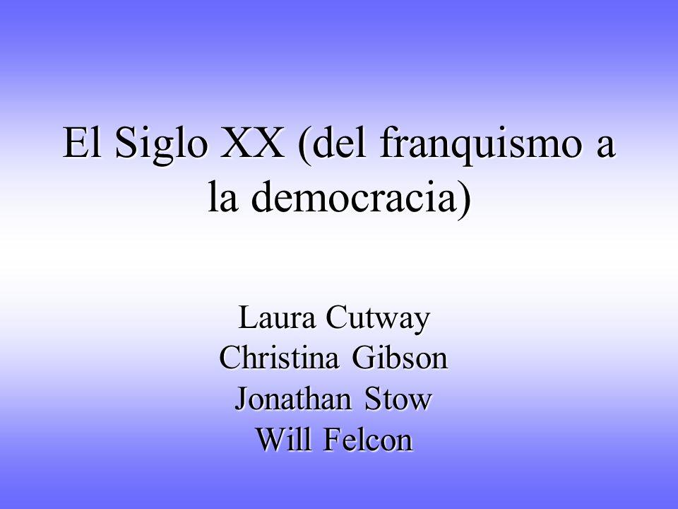 El Siglo XX (del franquismo a la democracia)