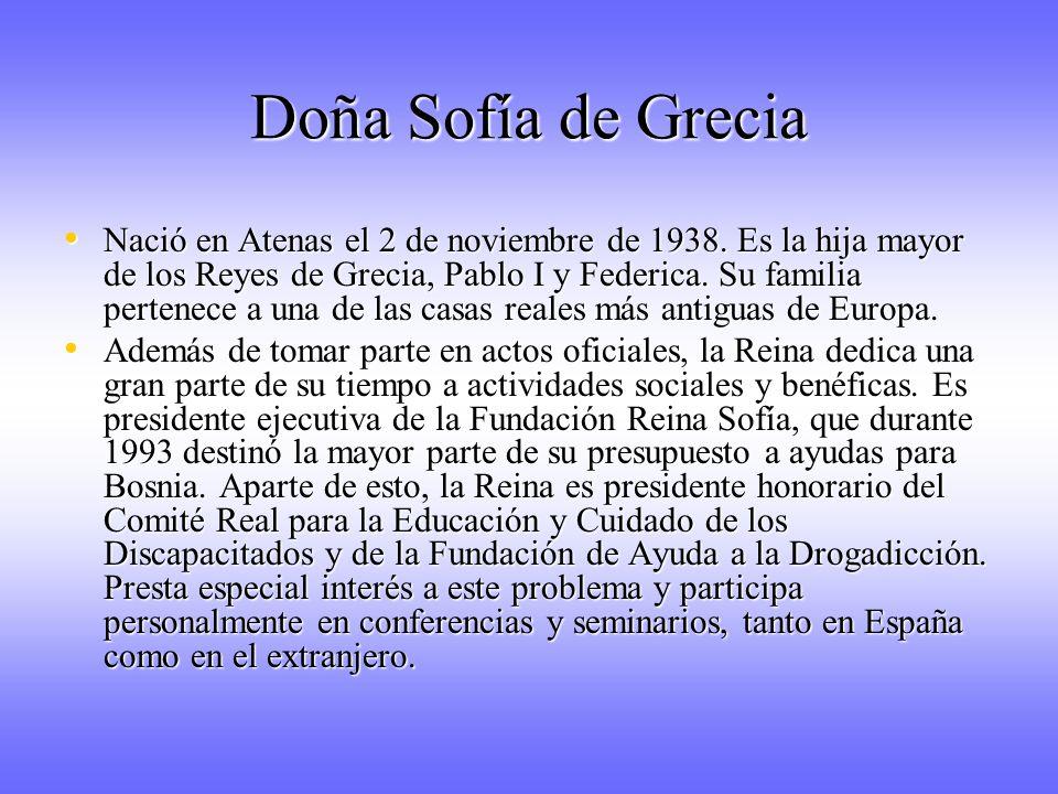 Doña Sofía de Grecia