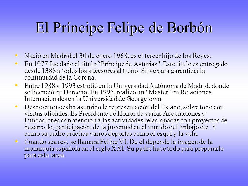 El Príncipe Felipe de Borbón