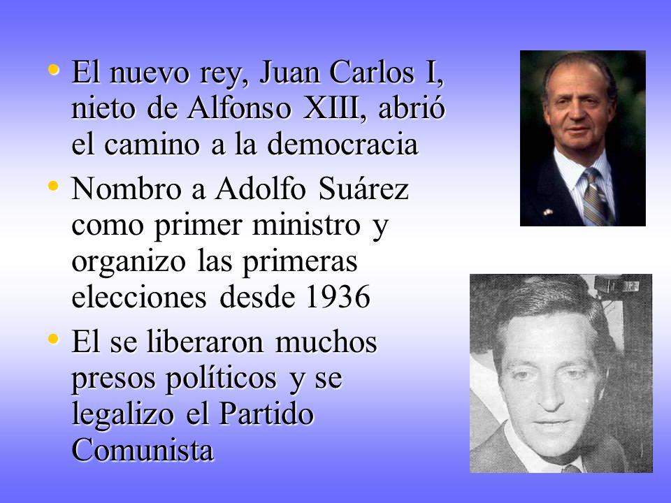 El nuevo rey, Juan Carlos I, nieto de Alfonso XIII, abrió el camino a la democracia