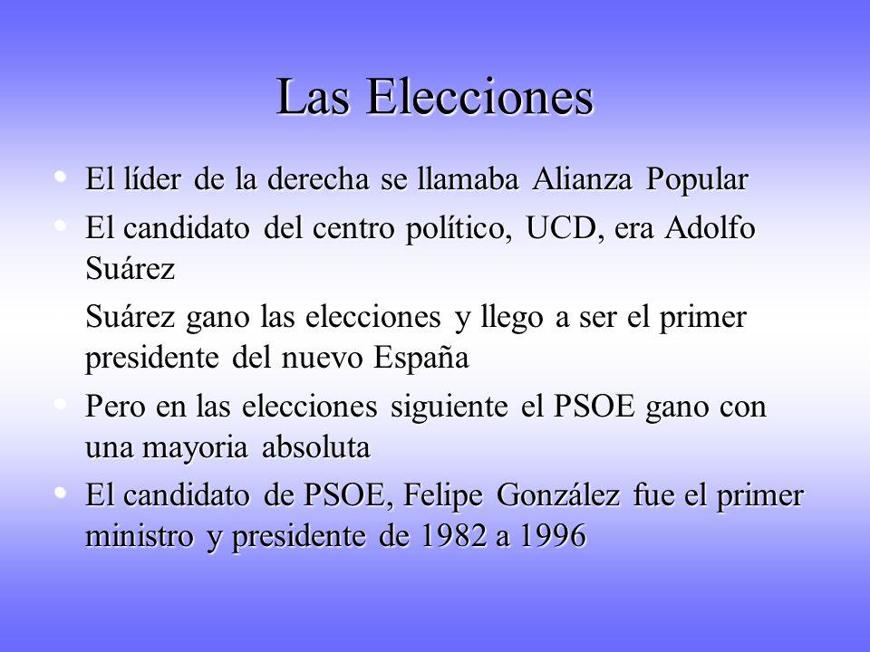 Las Elecciones El líder de la derecha se llamaba Alianza Popular