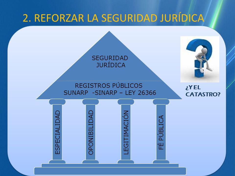 2. REFORZAR LA SEGURIDAD JURÍDICA