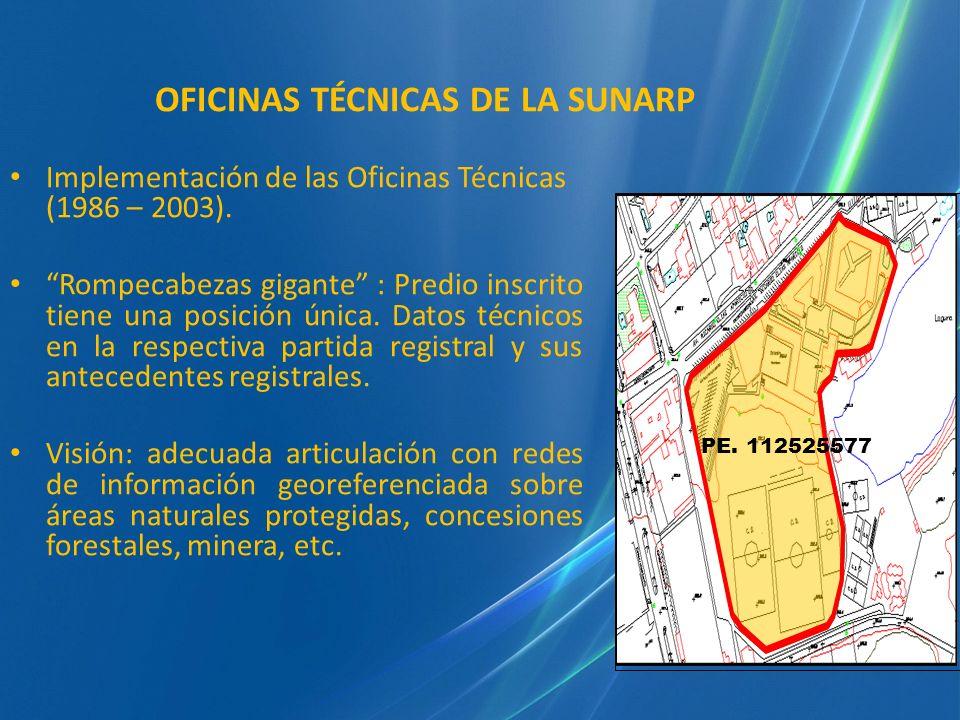 OFICINAS TÉCNICAS DE LA SUNARP