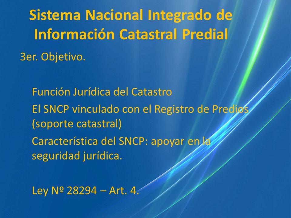 Sistema Nacional Integrado de Información Catastral Predial