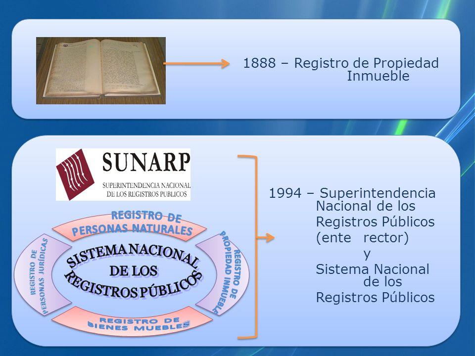 1888 – Registro de Propiedad Inmueble
