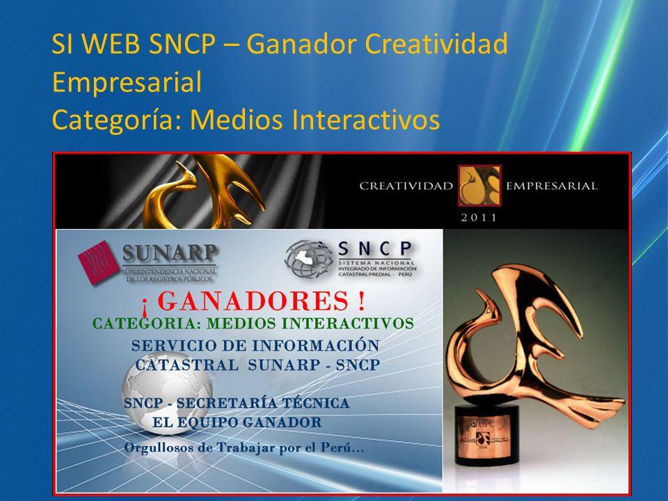 SI WEB SNCP – Ganador Creatividad Empresarial