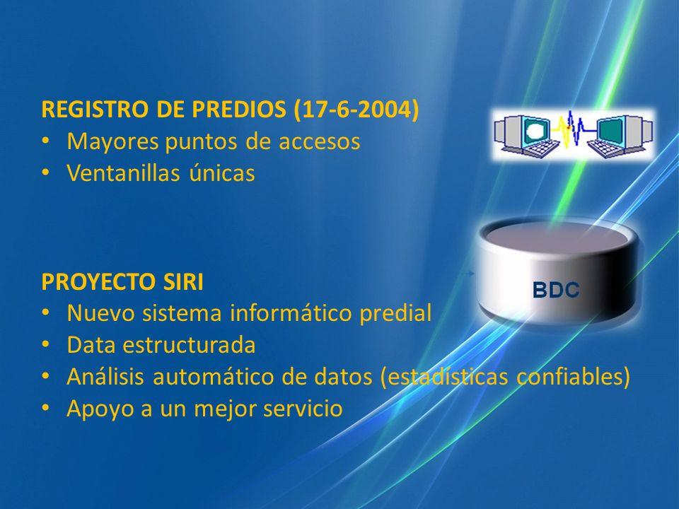 REGISTRO DE PREDIOS (17-6-2004)