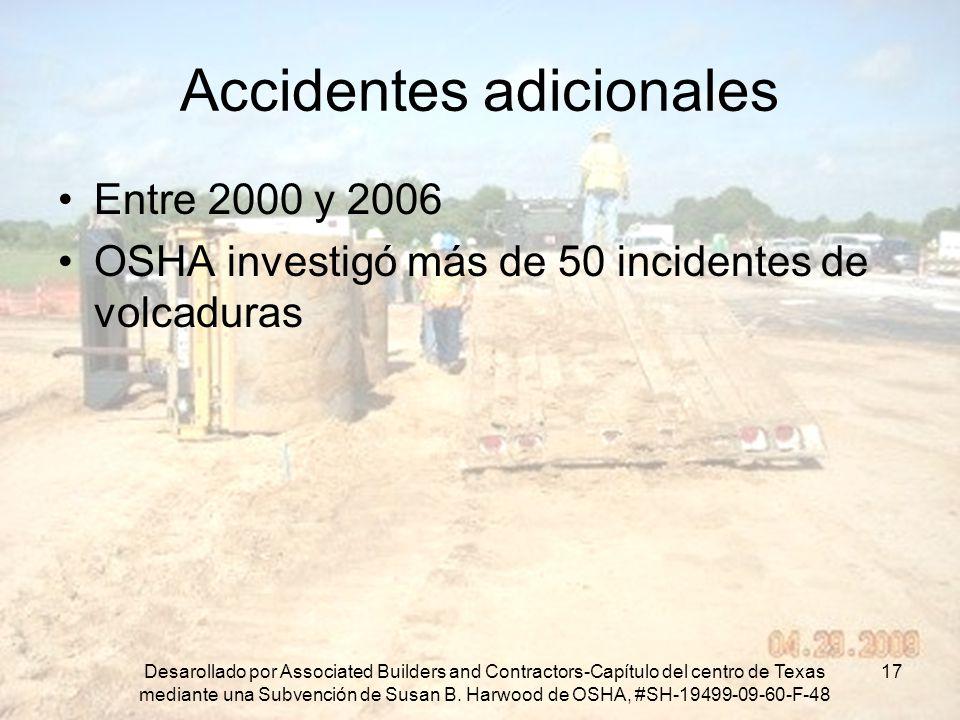 Accidentes adicionales
