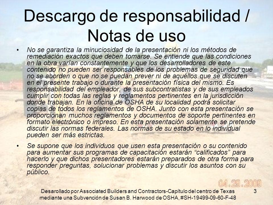 Descargo de responsabilidad / Notas de uso