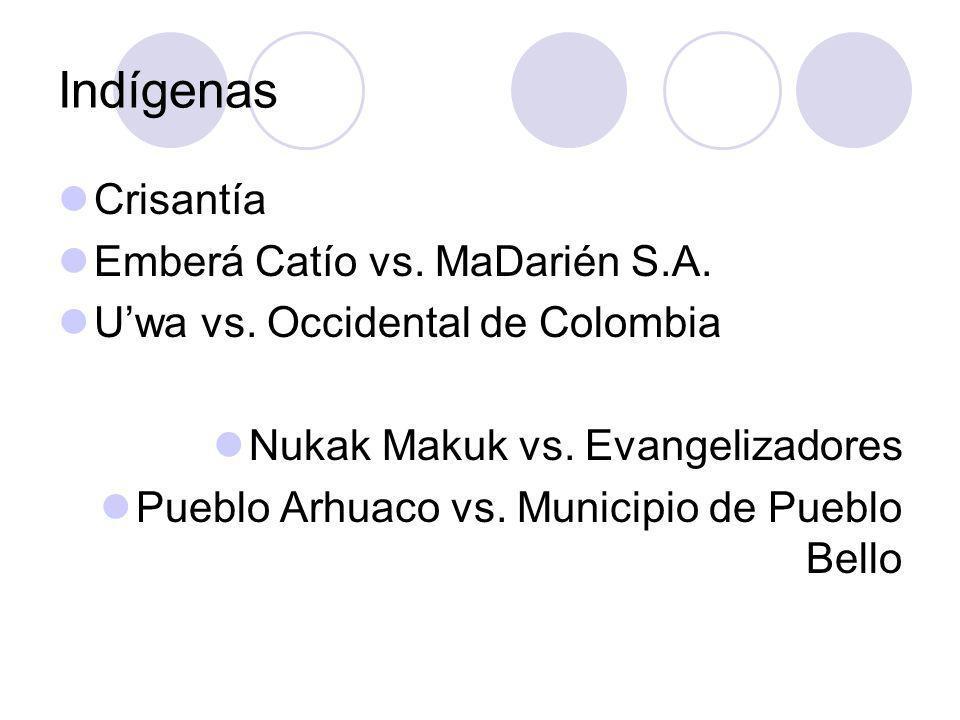 Indígenas Crisantía Emberá Catío vs. MaDarién S.A.