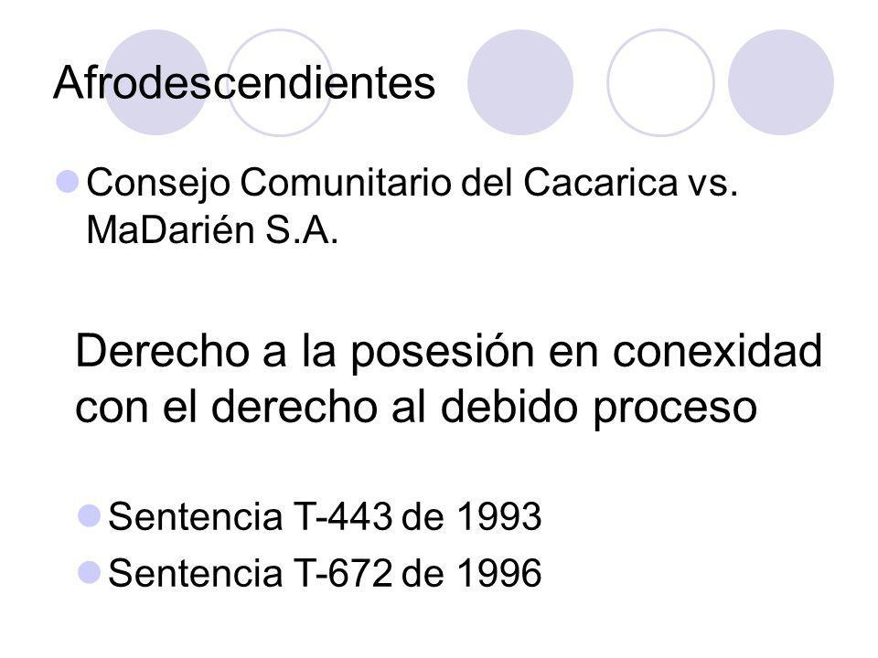 Derecho a la posesión en conexidad con el derecho al debido proceso