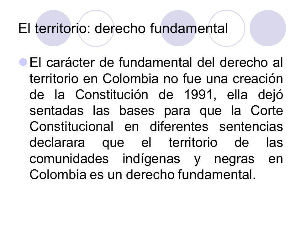 El territorio: derecho fundamental