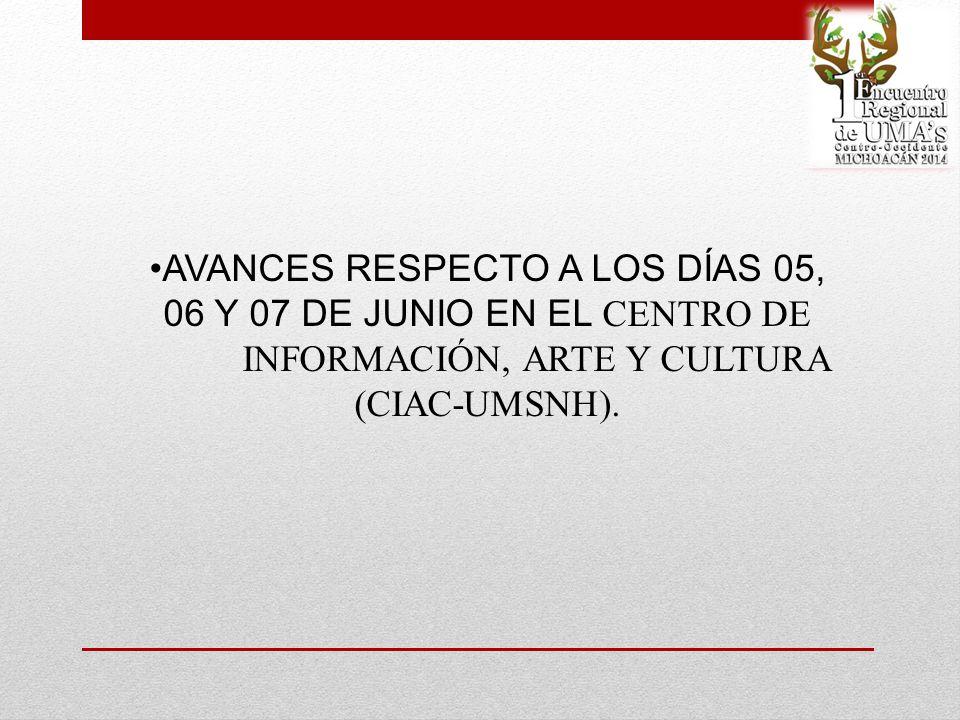 AVANCES RESPECTO A LOS DÍAS 05, 06 Y 07 DE JUNIO EN EL CENTRO DE