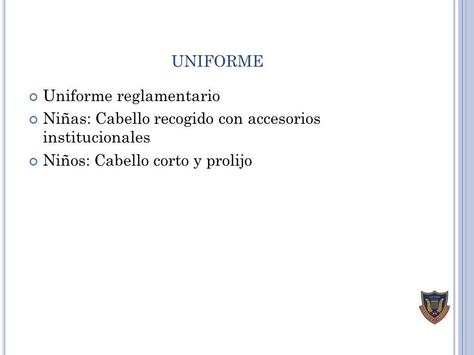 uniforme Uniforme reglamentario