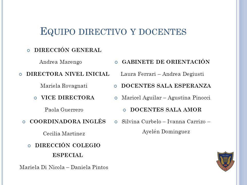 Equipo directivo y docentes
