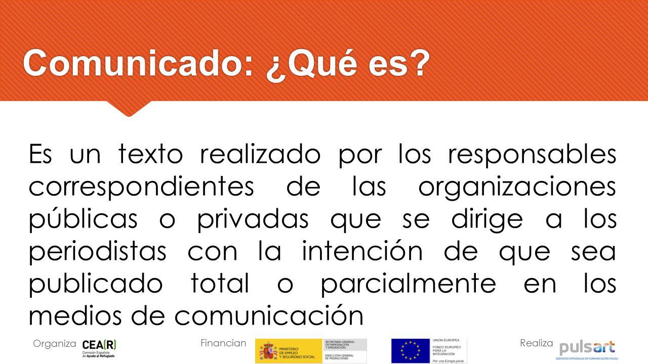 Comunicado: ¿Qué es