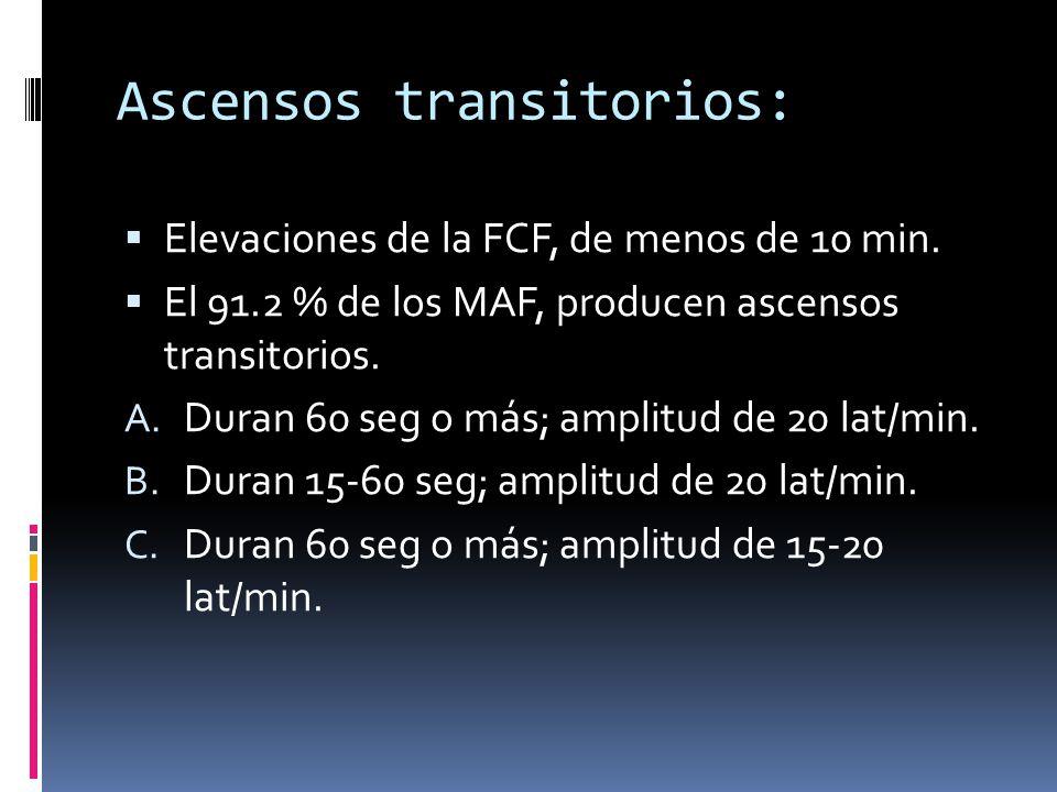 Ascensos transitorios: