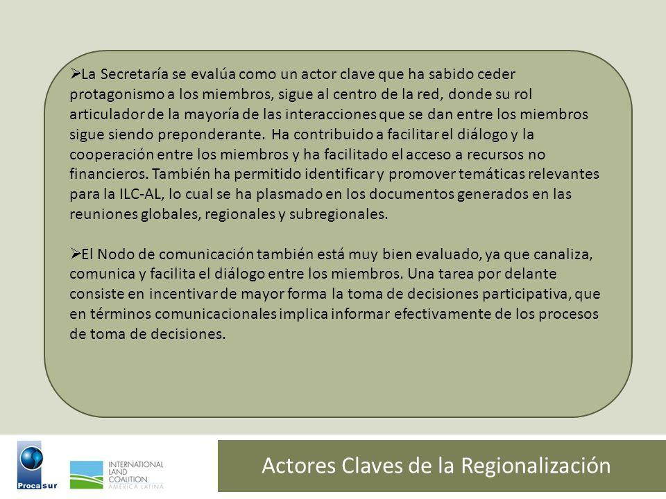 Actores Claves de la Regionalización