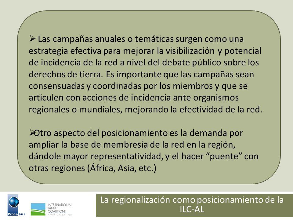 La regionalización como posicionamiento de la ILC-AL