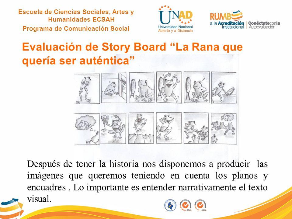 Evaluación de Story Board La Rana que quería ser auténtica
