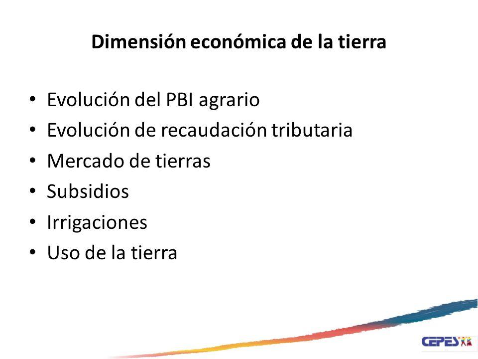 Dimensión económica de la tierra