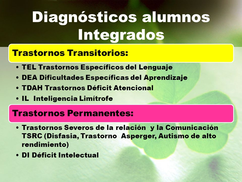Diagnósticos alumnos Integrados