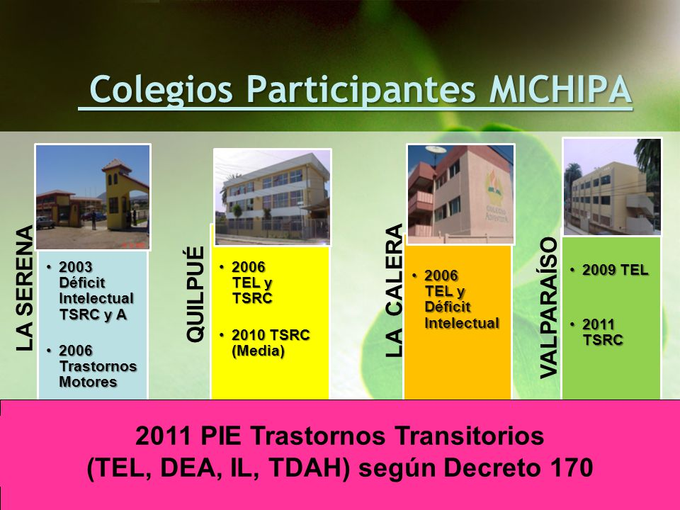 Colegios Participantes MICHIPA