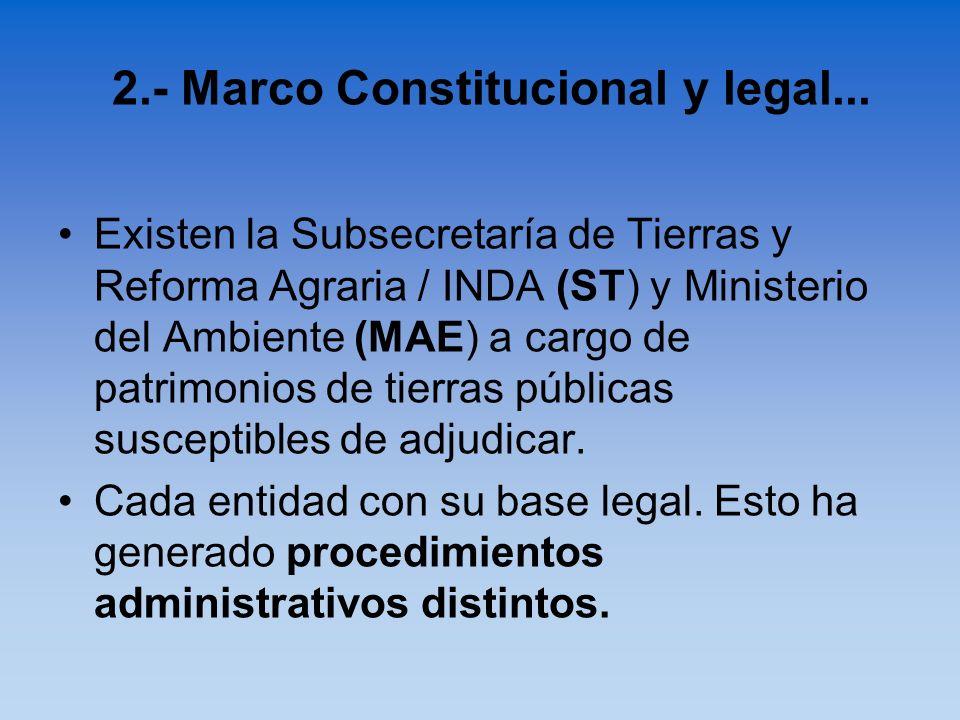 2.- Marco Constitucional y legal...