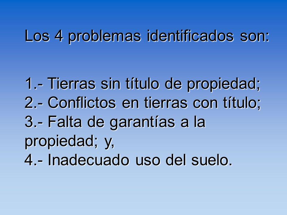 Los 4 problemas identificados son:
