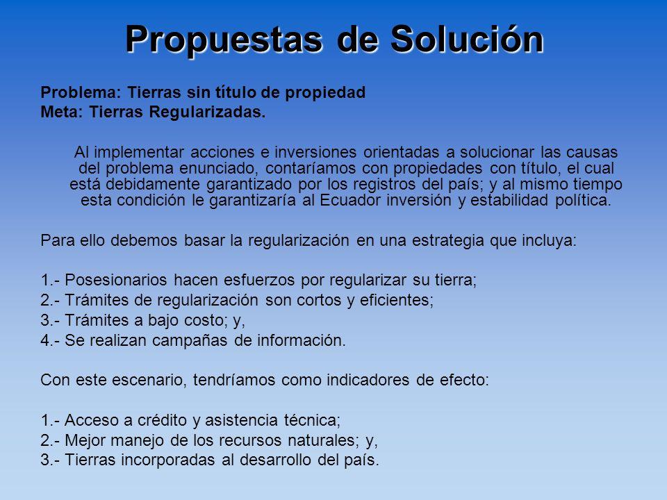 Propuestas de Solución