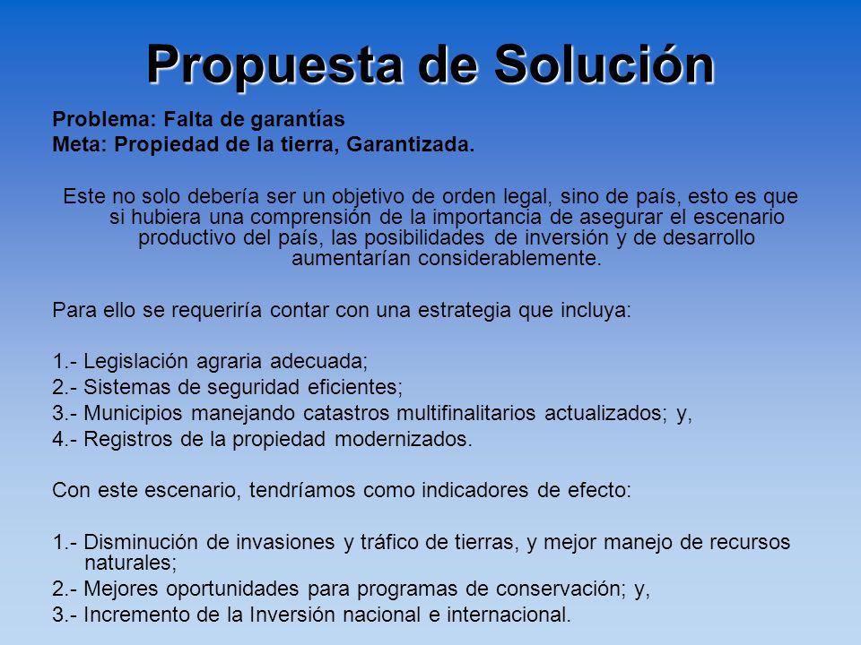 Propuesta de Solución Problema: Falta de garantías