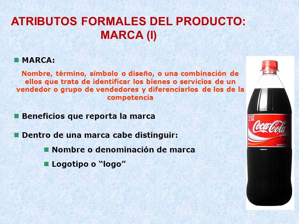ATRIBUTOS FORMALES DEL PRODUCTO: MARCA (I)