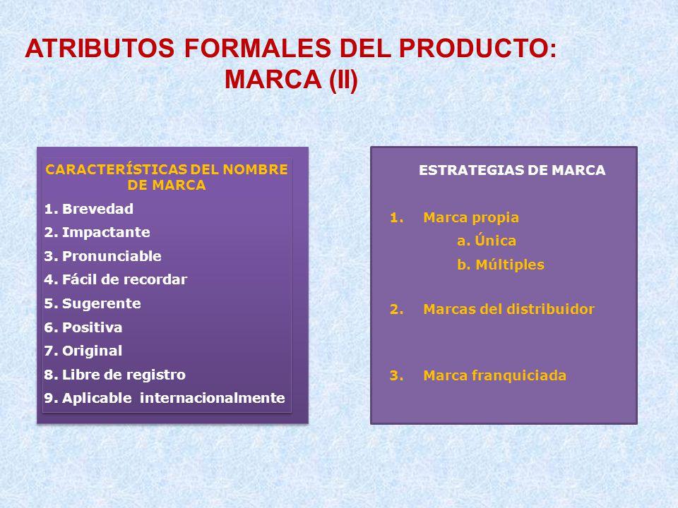 ATRIBUTOS FORMALES DEL PRODUCTO: MARCA (II)