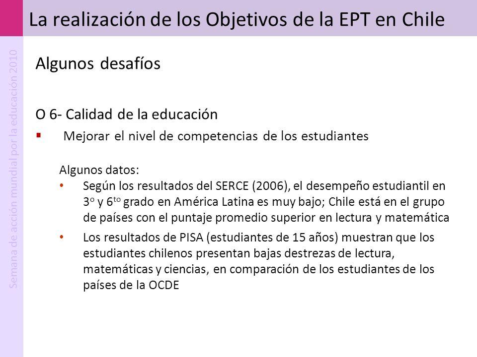La realización de los Objetivos de la EPT en Chile