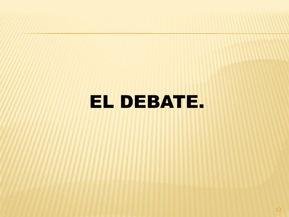 EL DEBATE.