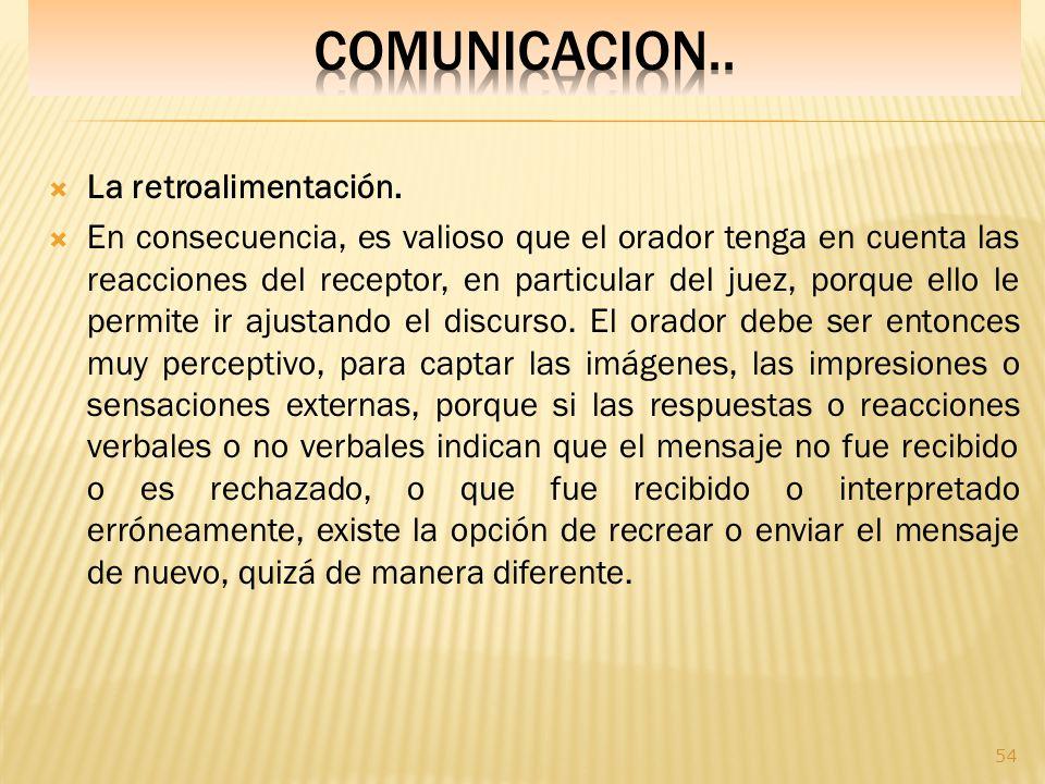 COMUNICACION.. La retroalimentación.