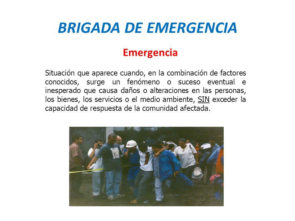 BRIGADA DE EMERGENCIA Emergencia