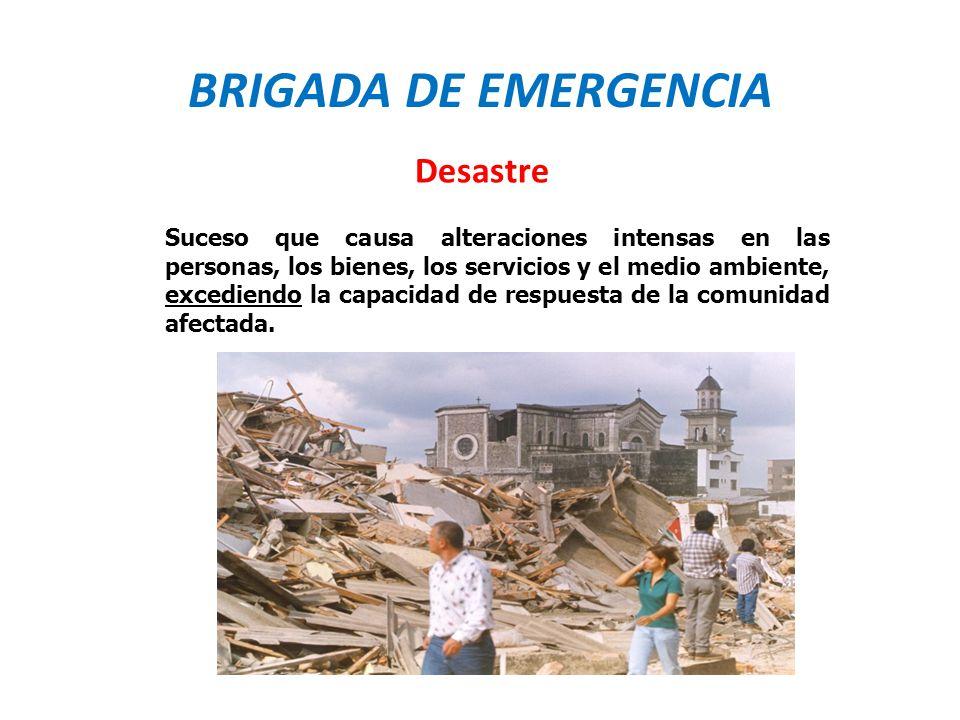 BRIGADA DE EMERGENCIA Desastre