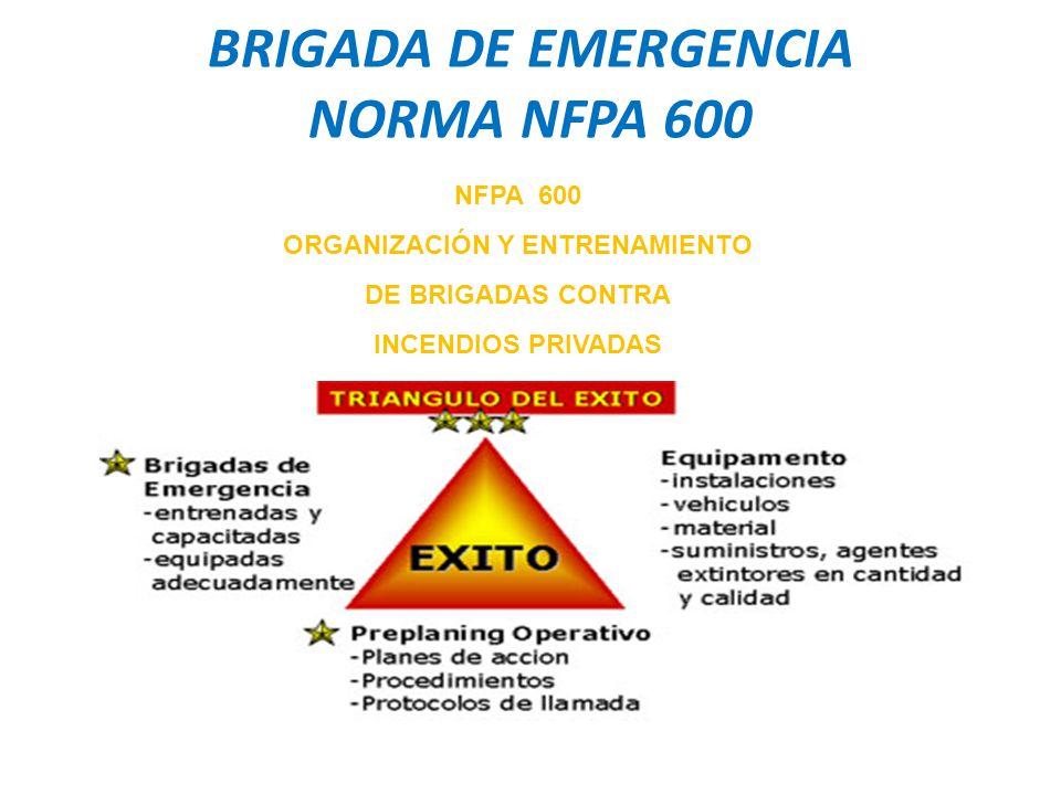 BRIGADA DE EMERGENCIA NORMA NFPA 600