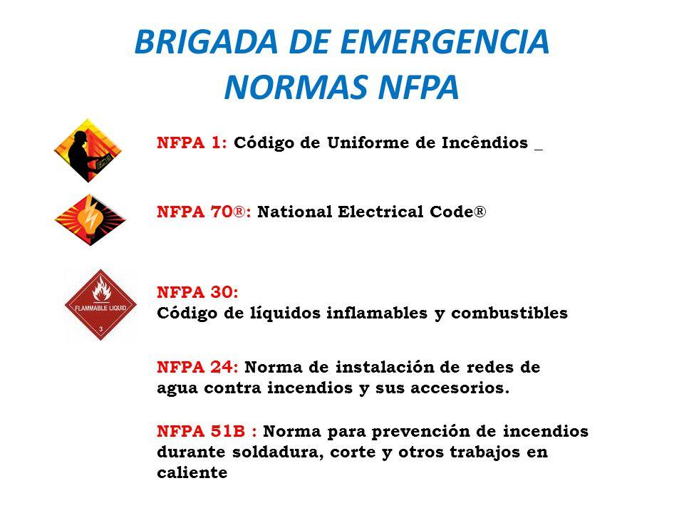 BRIGADA DE EMERGENCIA NORMAS NFPA