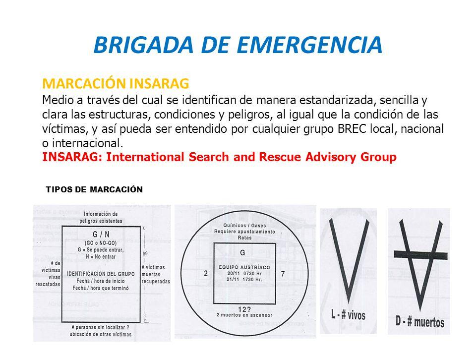 BRIGADA DE EMERGENCIA MARCACIÓN INSARAG