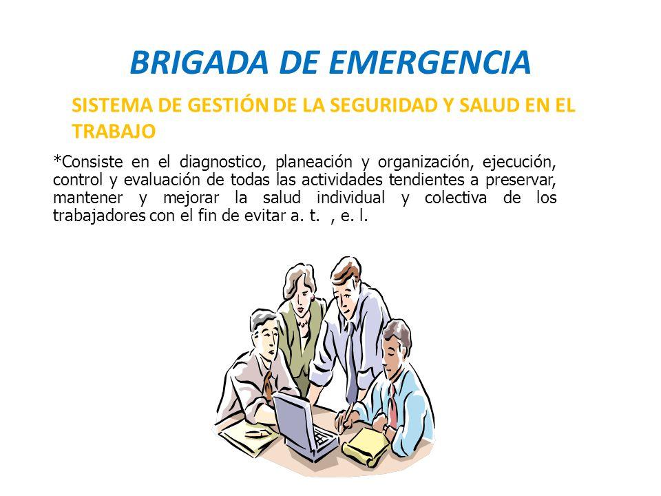 BRIGADA DE EMERGENCIA SISTEMA DE GESTIÓN DE LA SEGURIDAD Y SALUD EN EL TRABAJO.
