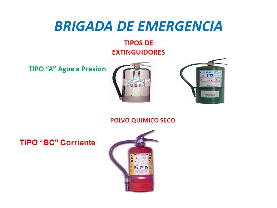 TIPOS DE EXTINGUIDORES